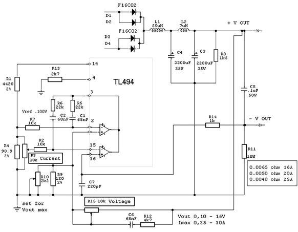 Схема лабораторного блока питания из atx бп