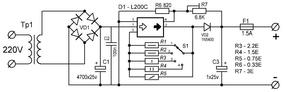 Схема зарядного на l200c