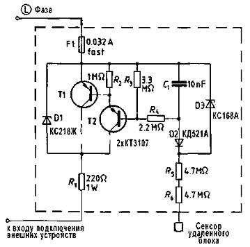 Схема удаленного сенсорного