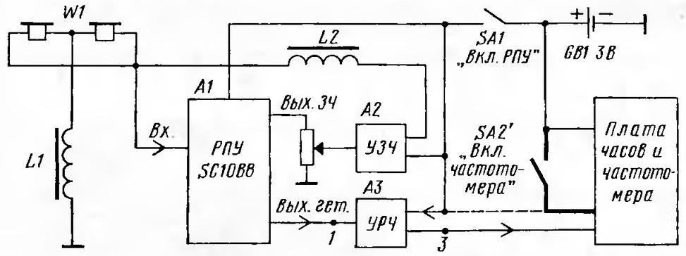 УРЧ на двух транзисторах.