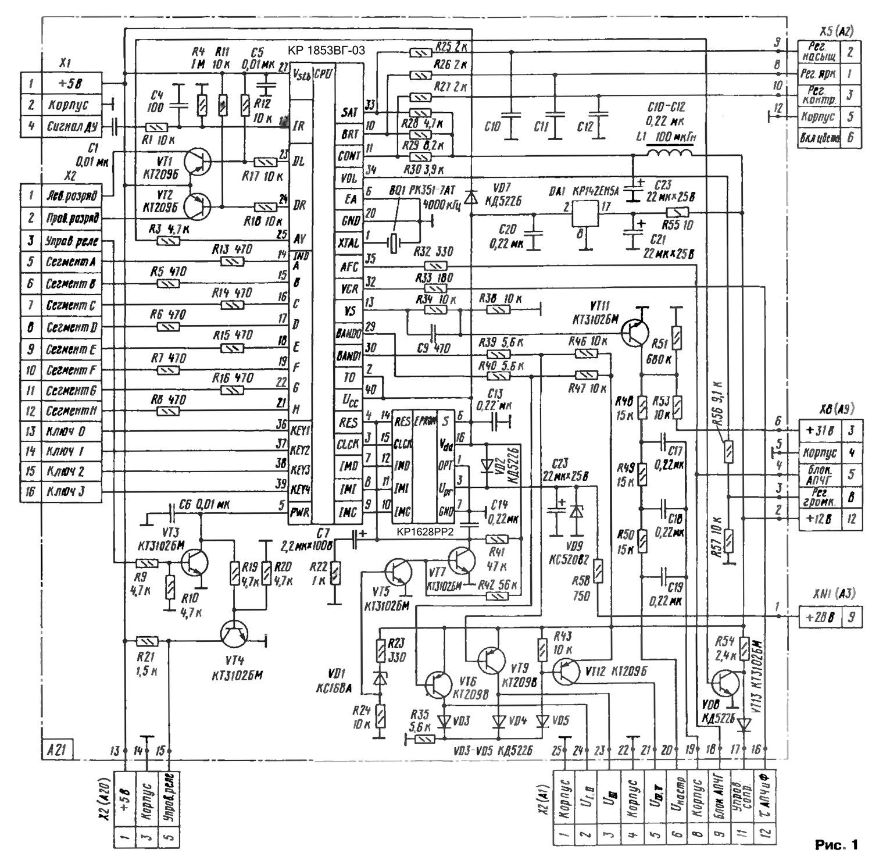 Схема телевизора 4 поколения