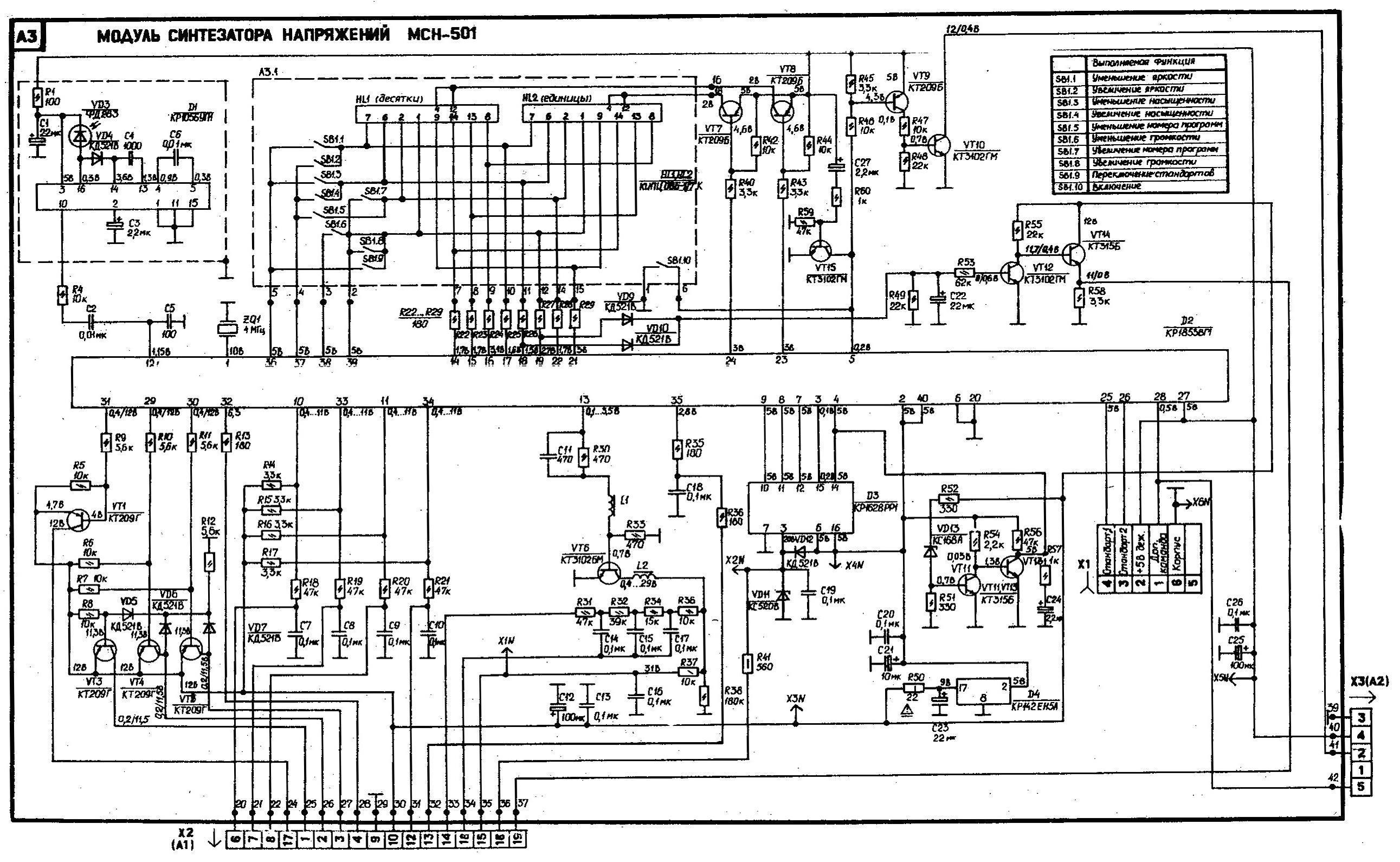 схема для проверка пульта телевизора
