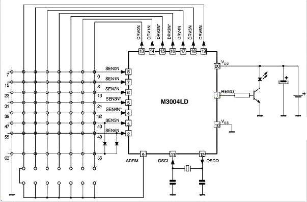 Схема пульта IP-Q1 на