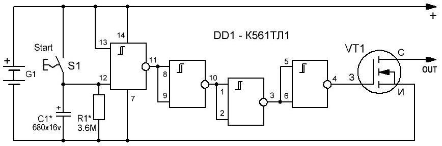 на полевом транзисторе.