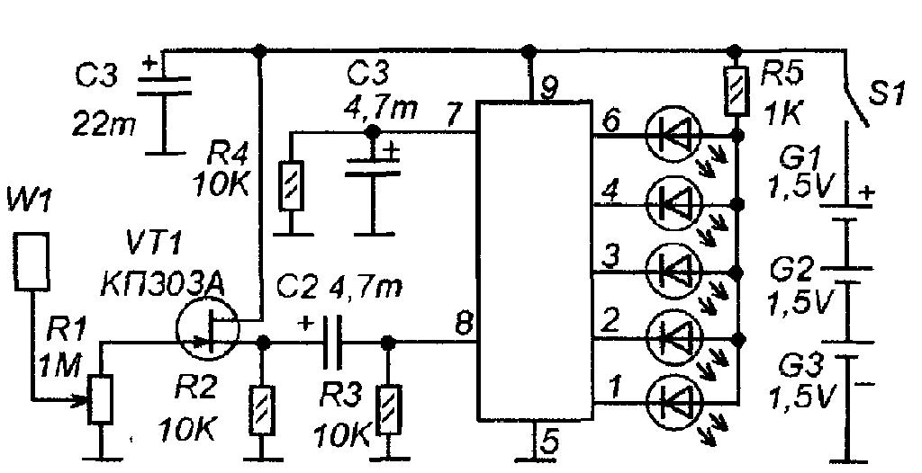 Искатель скрытой проводки своими руками схемы на микросхеме серии к155