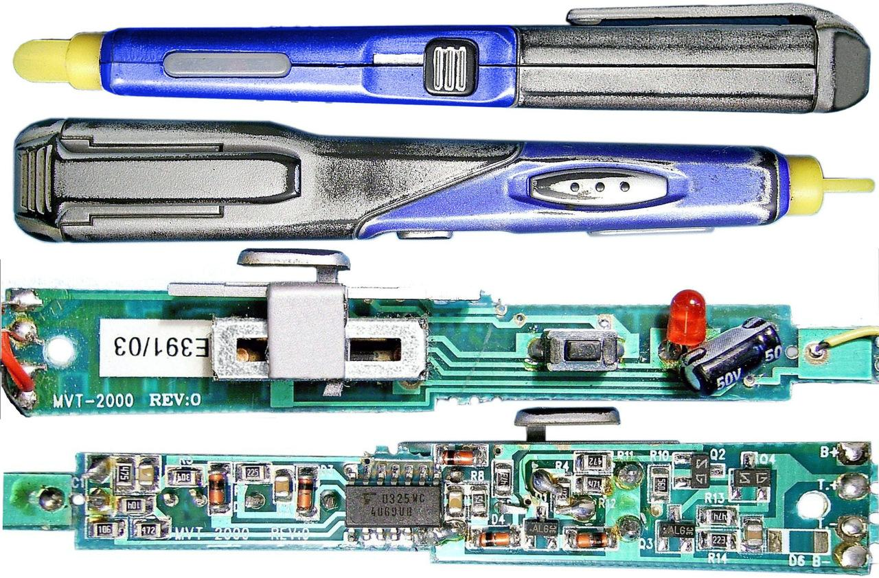 схема детектор проводки на pic12f629