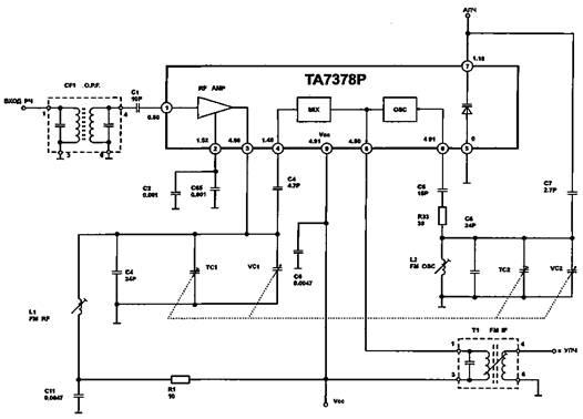 Рис. 3 Схема входного блока FM