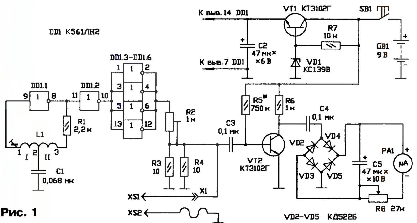 схема измерителя еср конденсаторов