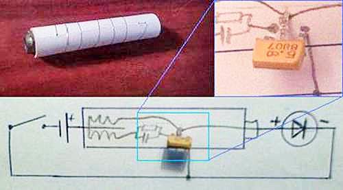 Как сделать из батарейки светильник