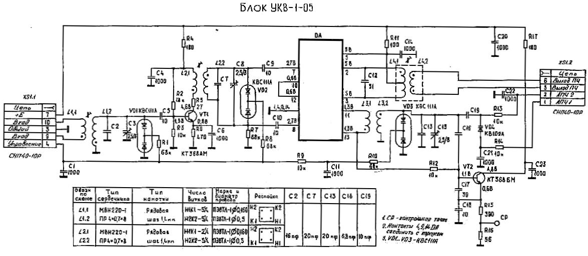схему тюнера радиотехника