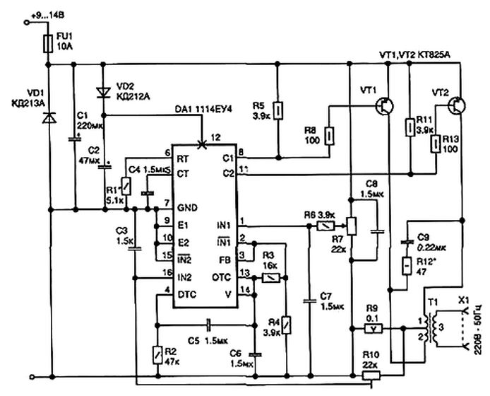 Еще схемы: Трансформатор