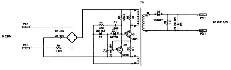Схема зарядки nokia - Схемы.